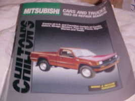 Chilton'S 1983 89 Mitsubishi Cars Trucks Repair Manual - $12.99
