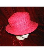 NEW Elegant Ashley Stewart  Pink Straw Hat - $14.99
