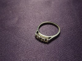 Sterling Silver White Topaz Past Present Future Band Ring Women's Size 6 - $34.65