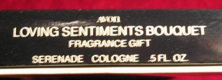 Vintage Avon Loving Sentiments Bouquet Serenade Cologne