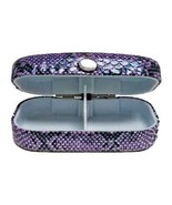 Purple Mini Gadget Case 3.25 x 1.75 x 1 hinged cross stitch accessory  - $8.50