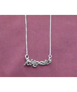 Sterling Silver Name Necklace - Name Plate - ABIGAIL - $54.00
