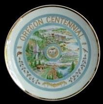 1859-1959 Oregon State Centennial Souvenir Plate Statehood - $10.00