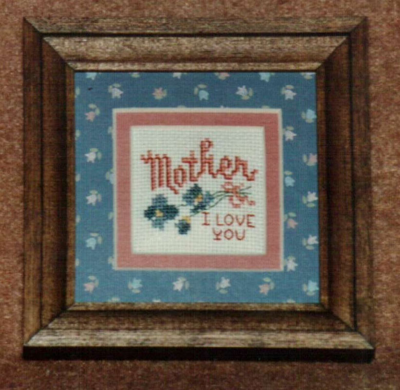 Mini Mother Ornamat cross stitch chart with double mat Dunfield Inc 4x4