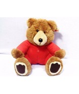 "1988 Vintage Dakin Long John Teddy Bear LARGE 13"" Union Suit Red Pajamas - $19.27"