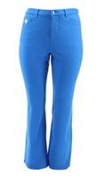 Quacker Factory DreamJeannes Tall Knit Denim Sapphire Blue 14 NEW A217496 - $35.62