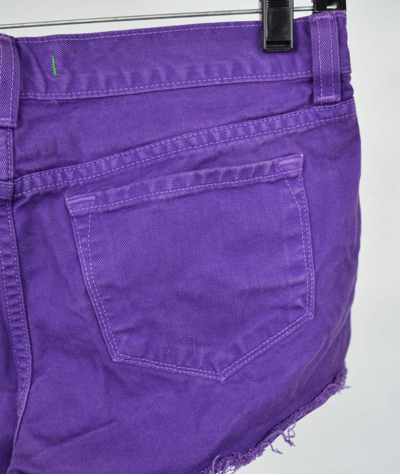 J Brand 7037 Bright Purple Cut Off Short Jeans 26 Womens USA image 10
