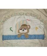 VINTAGE 1982 TEDDY BEDDY BEAR NURSERY CRIB BEDDING SOFT HEADBOARD W TIES... - $55.17
