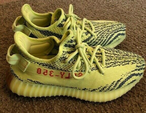 NEW ADIDAS YEEZY 350 V2 SEMI FROZEN YELLOW B37572 BRAND NEW IN THE BOX