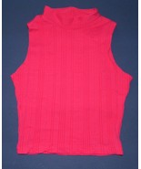 Cheryl Creation Hot Pink Sleeveless Mock  SM  NWOT - $5.99
