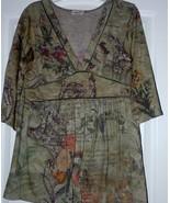 Ladies  floral blouse Size Large - $8.95