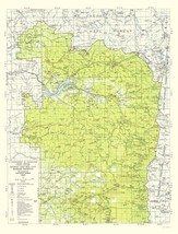 Topo Map - Willamette National Forest Oregon - USDA 1964 - 23.00 x 30.21 - $36.58+