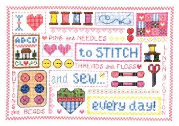 Primary image for Sew Every Day cross stitch chart Imaginating