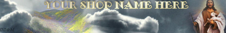 Jesus Lamb Heaven Clouds Custom Designed Web Banner 118a
