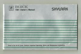 1981 Buick Skylark Owner's Manual - $5.00