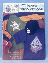 Daisy Kingdom Baseball No-sew Fabric Applique nbr 6285 - $5.99