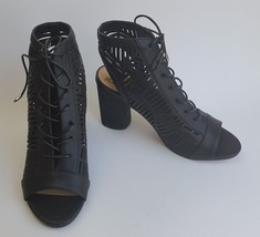 Sam Edelman Shoes Heels Sandals Lace Up Black Rocco Womens Size 8.5 M / 38.5 New - $89.06