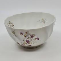 Vintage Porcelain Rosenthal Pompadour round bowl. White with floral desi... - $15.00