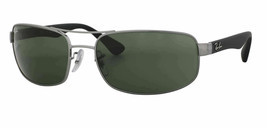 Ray Ban Sunglasses RB3445 006/11 61-17 130 Matte Black Frame w/ Grey Gra... - £71.26 GBP
