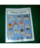 Honorable Mention Perforated Paper Awards Book 38 - $4.50