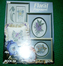 Floral Potpourri Stoney Creek Cross Stitch Book 59 - $5.00
