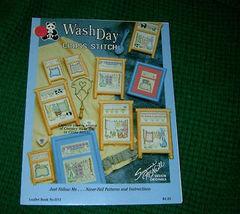 Wash Day  Cross Stitch Patterns Book No 1015 - $4.50