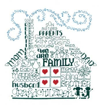 Primary image for Let's Be Family cross stitch chart Imaginating
