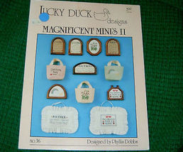 Magnificent Minis 2  Cross Stitch Pattern Lucky Duck  - $4.50