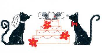 Primary image for Wedding Cats cross stitch chart Imaginating