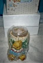 Cherished Teddies - Boy With Tree Trunk - 353949 - Votive Candleholder w... - $16.33