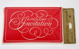 "Vintage 8 Invitations Christmas Party ""A HOLIDAY INVITATION"" Hallmark Ca... - $10.09"