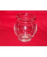 Anchor Hocking Clear Crimped Ruffle Rim Rosebowl - $3.00