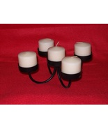 wrought iron candle holder plus 5 candles - $5.00