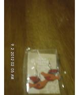 Red and Orange Enamel Dove Earrings Handmade - $11.99