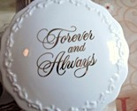 Hallmark Forever and Always Porcelain Trinket/Music Box