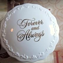 Hallmark Forever and Always Porcelain Trinket/Music Box - $18.49