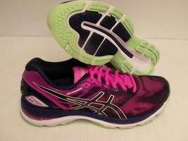Asics women's gel nimbus 19 running shoes indigo blue paradise green siz... - $118.75