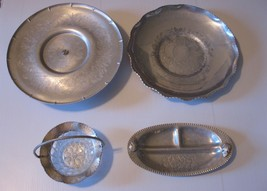Vintage Mixed Set of Bowls and Trays Silverlook, Farber & Shlevin, Coron... - $7.50