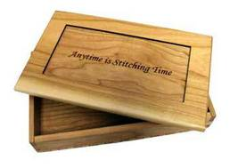 Cherrywood Stitching Time Box Rectangle Doodlin Around Designs  - $36.00