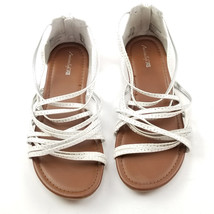 American Eagle Womens Flat Sandals Size 6 White Stone Detail - $10.74