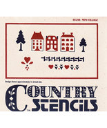 COUNTRY STENCIL #65298 MINI VILLAGE USED PRECUT MYLAR - $2.50