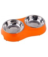 PetCee Dog Bowls Stainless Steel Double Bowl Dog Food Bowl Set For For W... - $27.89