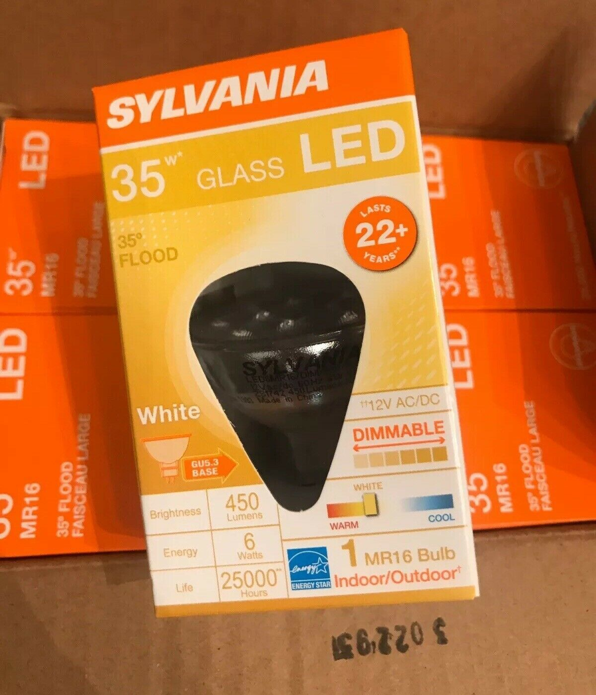 Primary image for Sylvania 35 Watt Glass LED Flood Bulbs 6 Pack MR16 New Lot Of 6