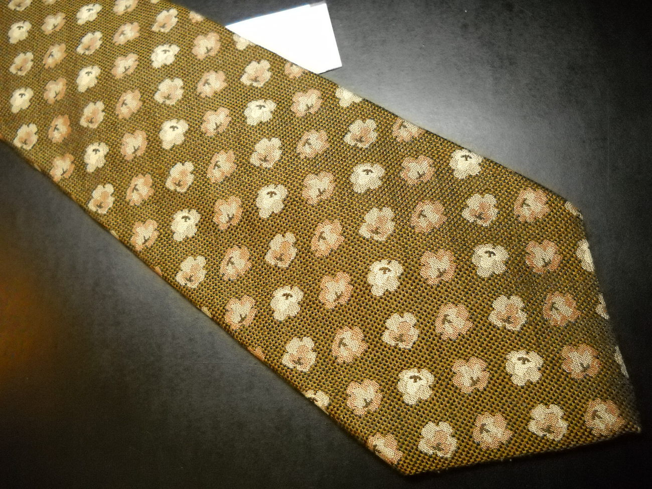 American Outfitter Neck Tie A Weave of Browns with Popcorn Accents Imported Silk