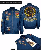 BUFFALO SOLDIER US ARMY FIGHTER JACKET USA ARMY BUFFALO SOLDIER BOMBER J... - $105.75