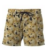 Cute Doge Shorts Mens Funny Shiba Inu Dog Print 3D Short Pants Hipster E... - $28.56