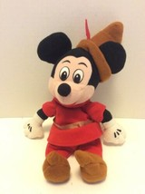 Disney Store Brave Little Tailor Mickey Mouse Bean Bag Stuffed Plush Red Outfit - $16.82
