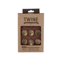 Chateau Varietal Metal Wine Charms by Twine - $10.99