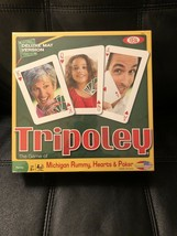 Tripoley Game of Michigan Rummy Hearts Poker Deluxe Mat Version Card Boa... - $38.47