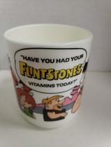 Vintage Flintstone Vitamin Cup Mug 1988 Hanna-Barbera Fred Barney Wilma ... - $12.99